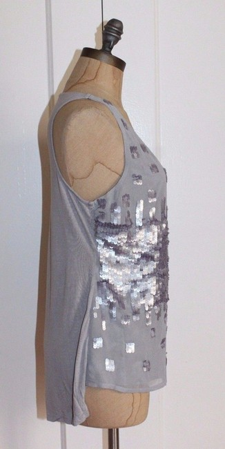 Matty M Sequin Evening Night Out Top GRAY Image 1