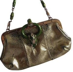ba5295daadf8 Gucci Clutch Tom Ford Snake Gold Leather Shoulder Bag - Tradesy