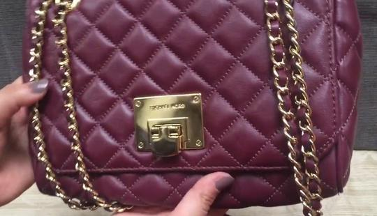 Michael Kors Quilted Leather Shoulder Bag Image 4