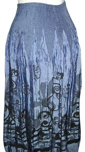 Lapis Indigo Black One Size Skirt Lapis Indigo Black