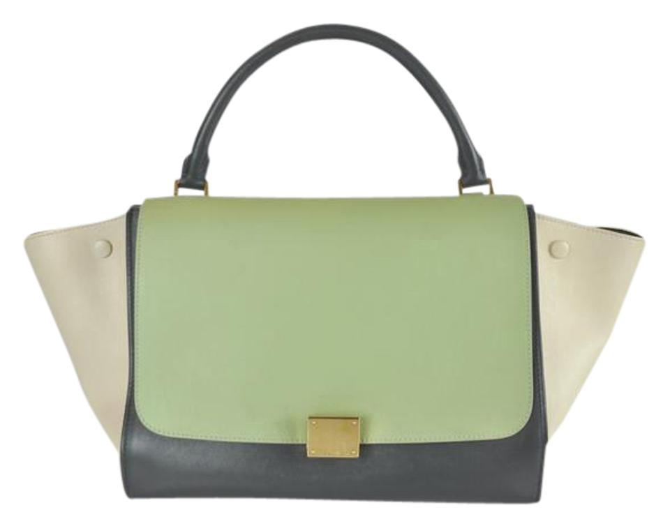 e3fa54f474b8 Céline Trapeze Medium Color-block Leather Shoulder Bag - Tradesy