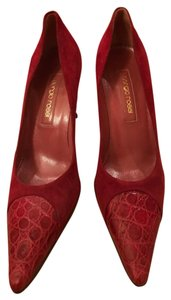 Sergio Rossi Red/Wine Pumps