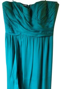 Nicole Miller Gown Flowy Jewel Tone Ruched Dress