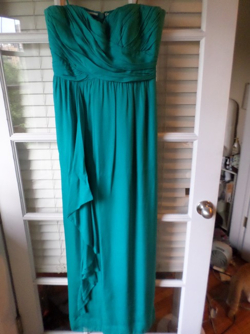 Nicole Miller Gown Flowy Jewel Tone Ruched Corset Dress Image 1