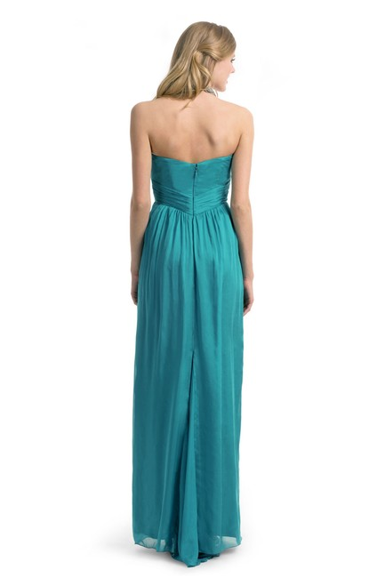 Nicole Miller Gown Flowy Jewel Tone Ruched Corset Dress Image 4