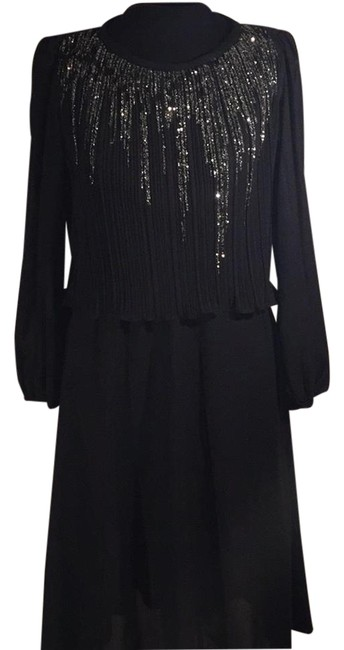 Preload https://img-static.tradesy.com/item/21346372/black-with-silver-shimmer-37664-mid-length-night-out-dress-size-10-m-0-2-650-650.jpg