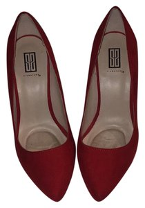 1 Madison Red Suade Pumps