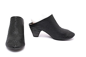 Marsèll Woven Leather Handmade Black Mules