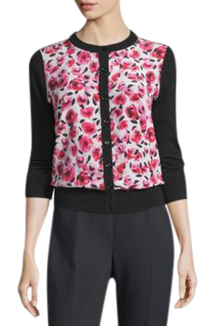 Item - Black / Pink / Red / White (Nwt) Mini Rose Silk Cardigan Size 4 (S)