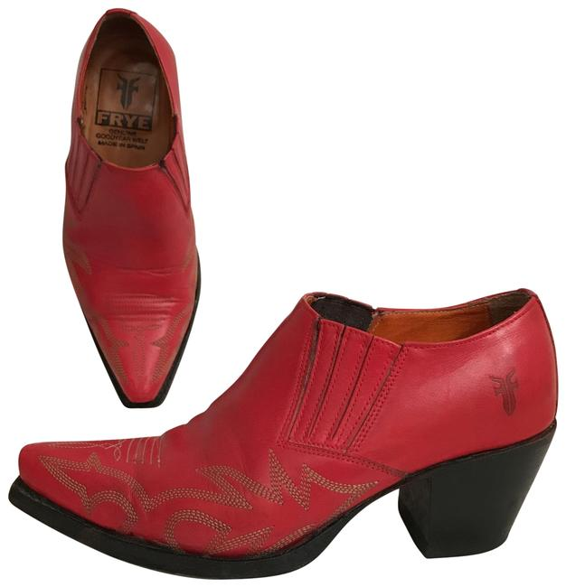 Item - Red Black Billie Shootie Leather Boots/Booties Size US 6 Regular (M, B)