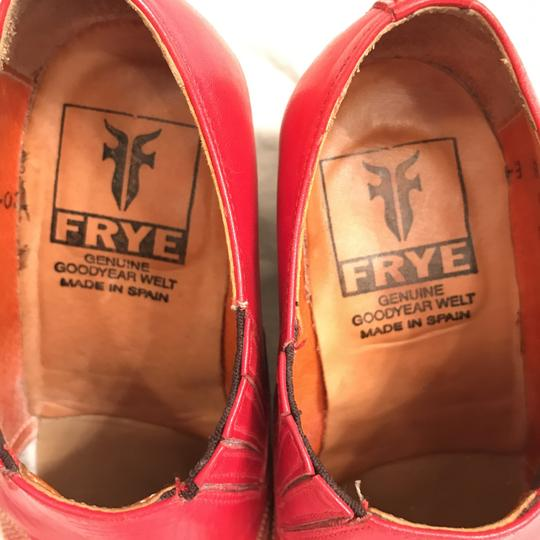 Frye Leather Ankle Western Shorties Red Black Boots Image 2
