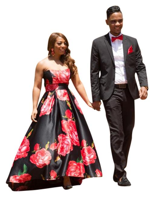 Item - Black and Red Style #21820/A19046 Long Formal Dress Size 6 (S)