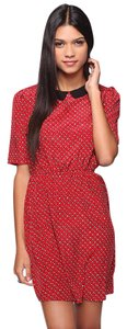 Forever 21 short dress RED Peter Pan Collar Horse Tiny Horse on Tradesy