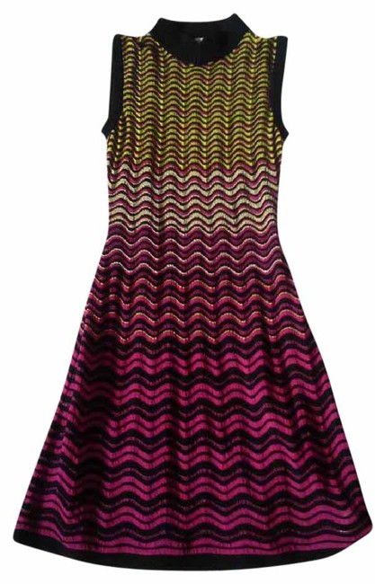 Preload https://img-static.tradesy.com/item/21347085/m-missoni-gold-pink-yellow-nwot-ripple-stitch-fit-and-flare-mid-length-cocktail-dress-size-4-s-0-3-650-650.jpg