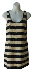 Trina Turk Sequin Cocktail Striped Night Out Summer Dress