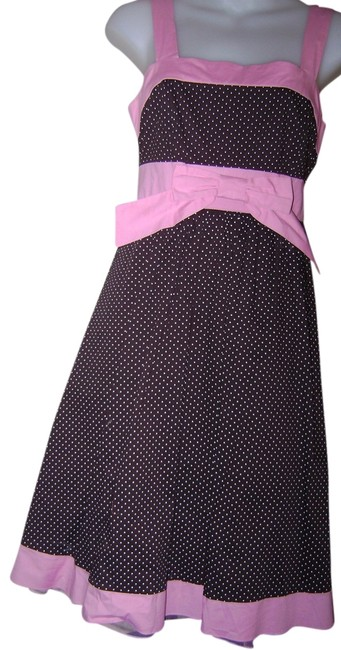 Item - Pink and Brown Party Night Out Date Night Summer Sun Knee Length Short Casual Dress Size 6 (S)