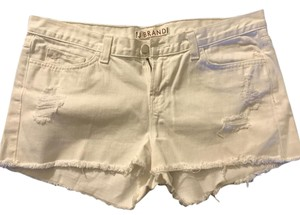 J Brand Cute Sexy Distressed Summer Casual Cut Off Shorts White