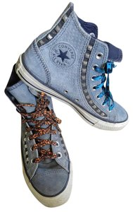 Converse Hightops Leather Rare Blue Studded blue gray Athletic