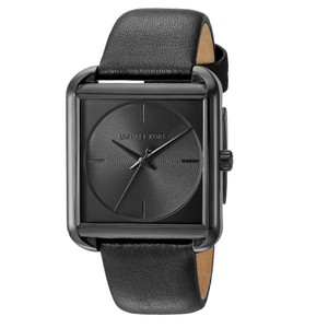 Michael Kors Michael Kors Women's Black and Black Leather Watch MK2586