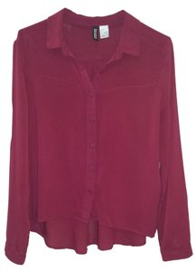 Divided by H&M Button Down Shirt burgundy