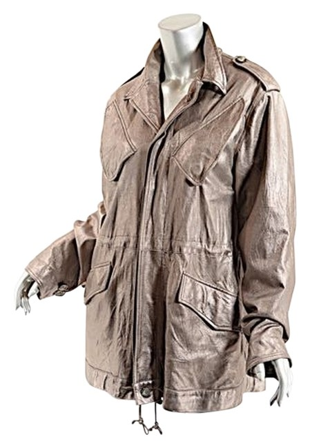 Preload https://item1.tradesy.com/images/pewter-distressedcrinkled-soft-leather-anorak-fab-us10-size-10-m-2134830-0-0.jpg?width=400&height=650