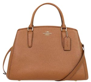 Coach Leather Nwt Margo Satchel in Saddle