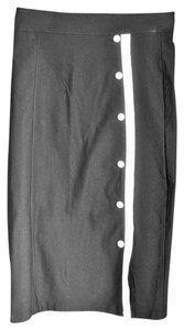 Modcloth Tight Buttons Skirt Black and White
