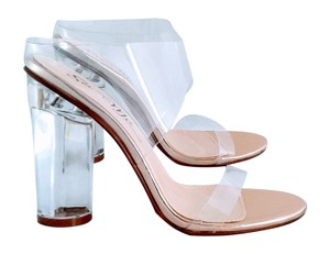 Machi Footwear Heel Block Heel Heel clear and rose gold Mules