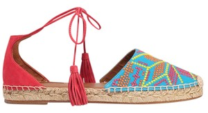 Aquazzura Palm Springs Espadrille New blue, pink Wedges