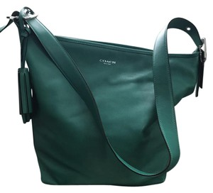 Coach Duffle Cross Body Adjustable Strap Leather Hobo Bag