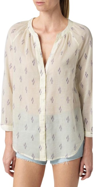 Item - White/Cream with Print Nwt: Sammy - White/Evening Blue/Orchid-ikat Blouse Size 4 (S)