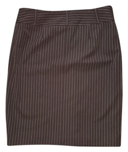 Context Skirt black pin stripe