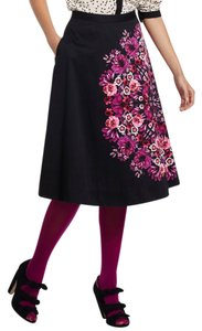 Anthropologie Vanessa Virginia A-line Skirt Black