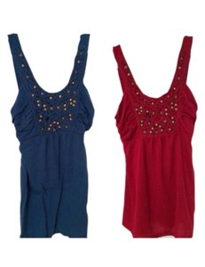 Charlotte Russe Top Blue Red