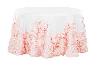 Blush Pink And White Wedding Cake Tablecloth