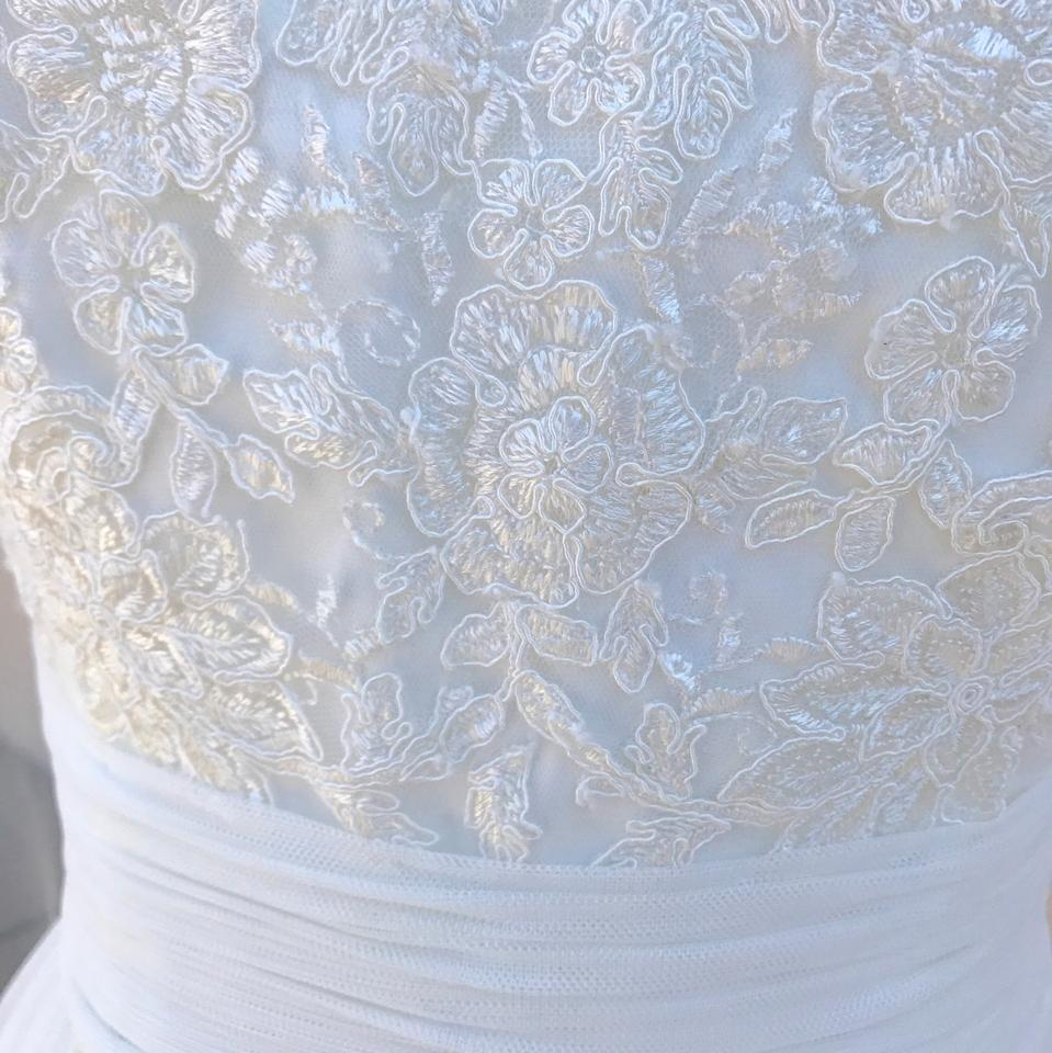 Mori Lee Ivory Lace 6801 with Veil and Necklace Set Destination ...