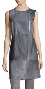 Lafayette 148 New York Calf Hair Leather Vest
