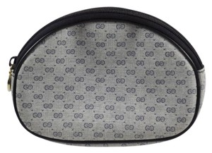 Gucci Vintage GUCCI Cosmetic Makeup Travel Clutch Navy