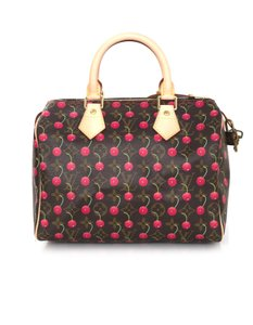Louis Vuitton Speedy Monogram Cherries Handle Tote in brown