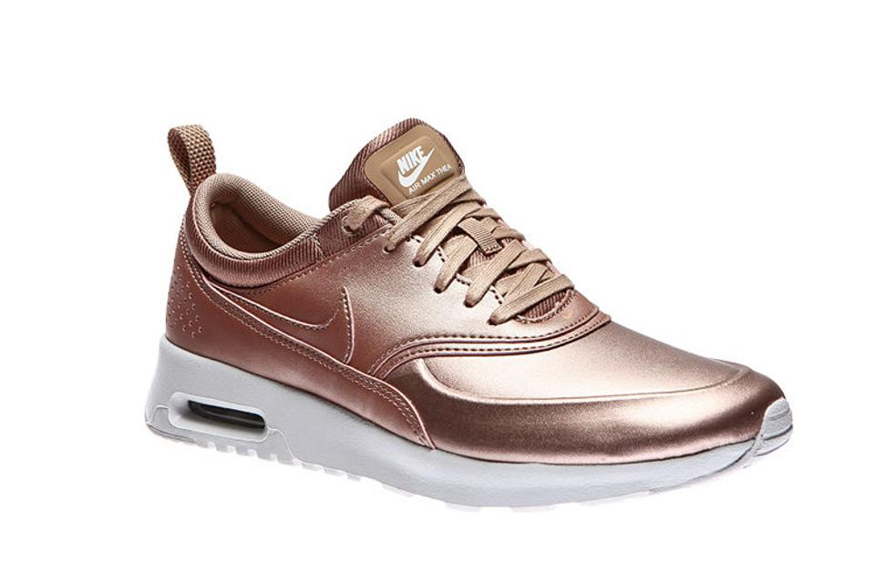 a5d0f7fc3bb Nike Bronze New Womens Air Max Thea Se Metallic Rose Gold Copper Sneakers