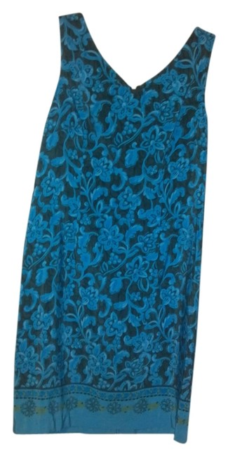 Item - Turquoise Knee Length Work/Office Dress Size 10 (M)