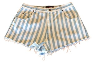 Giorgio Sant'Angelo Cut Off Shorts blue and white