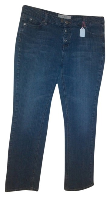 Mixit Straight Leg Jeans-Medium Wash