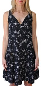 Sanctuary short dress Black Floral Sleeveless on Tradesy