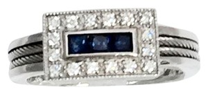 Charriol Diamonds and Blue Sapphires in 18K White Gold.
