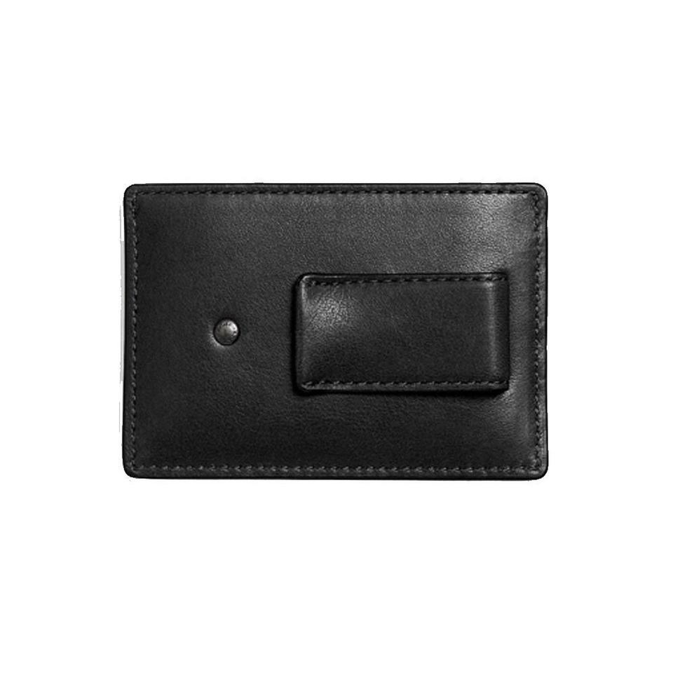 best loved 12c90 7c8f9 Coach Black Mens Leather Money Clip Card Case Wallet