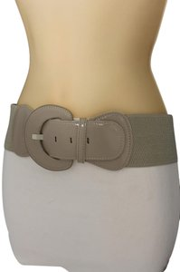 Other Women Fashion Belt Hip High Waist Stretch Gray Big Buckle Plus Size
