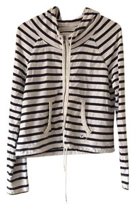 American Eagle Outfitters striped navy and white Jacket