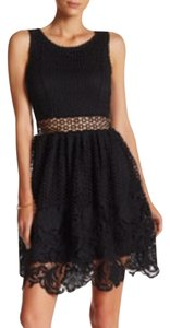 Romeo & Juliet Couture Eyelet Sheer Cut Out Tea Lbd Dress