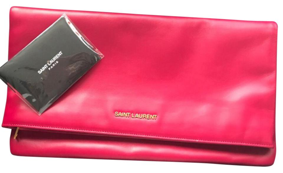 Laurent Calfskin Saint Clutch Leather 328193 Pink dZaWAqwT4